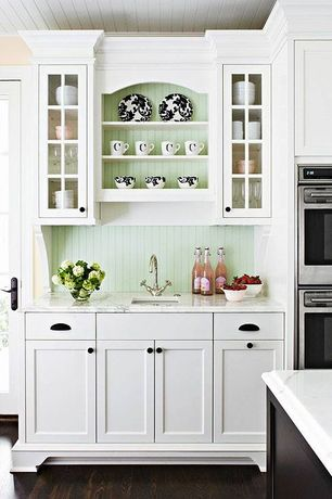 Cottage white kitchen design ideas pictures zillow for Kitchen ideas zillow
