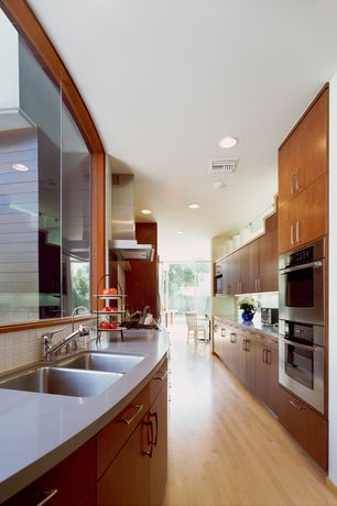 4 Tags Modern Kitchen With European Cabinets, Hardwood Floors, Slate  Counters, Frigidaire Gallery 27u0027