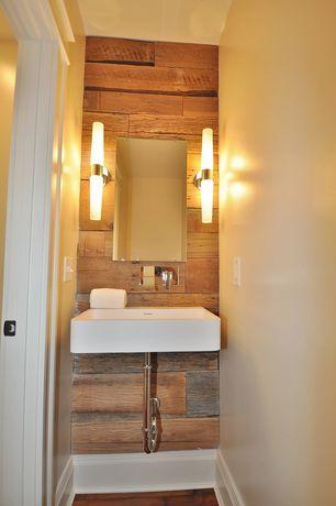 Contemporary Powder Room With Hardwood Floors By Finn Team