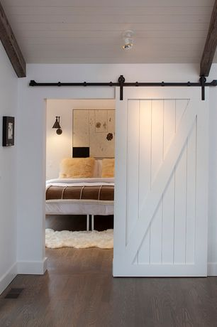 4 tags contemporary guest bedroom with barn door beadboard ceiling laminate floors pinecroft 34 - Barn Door Design Ideas