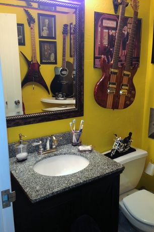 Bathroom Sink Yellow yellow powder room design ideas & pictures | zillow digs | zillow