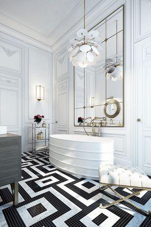 luxury white master bathroom design ideas & pictures