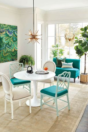 7 Tags Contemporary Dining Room With Bunny Williams Faux Fiddle Leaf Fig Tree Wynton Pedestal Table Ballard Designs