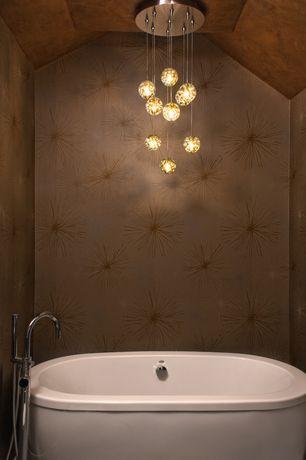 Contemporary Master Bathroom with Pendant Light by TZS Design, LLC ...