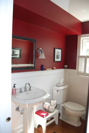 cottage red bathroom design ideas & pictures | zillow digs | zillow