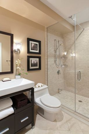 Modern 3 4 Bathroom With Signature Hardware