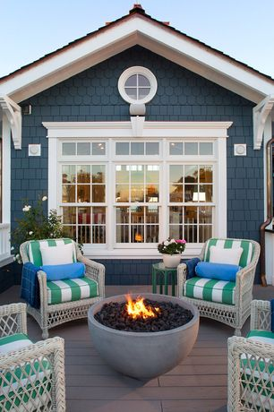High Quality 1 Tag Traditional Deck With Fire Pit