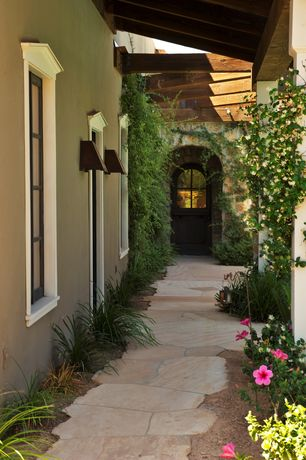 Traditional Front Door with Pathway  exterior stone floors. Traditional Sherwin Williams Basque Green Front Door   Zillow Digs