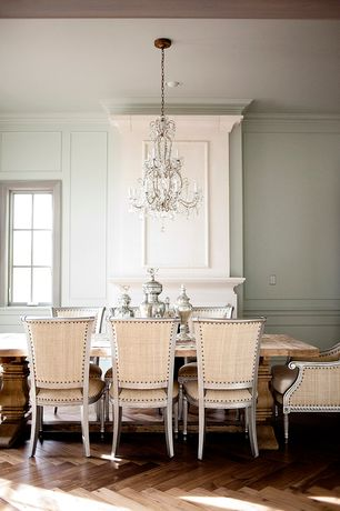 Traditional Dining Room With Wainscoting High Ceiling Crown Molding Louis Side Chair