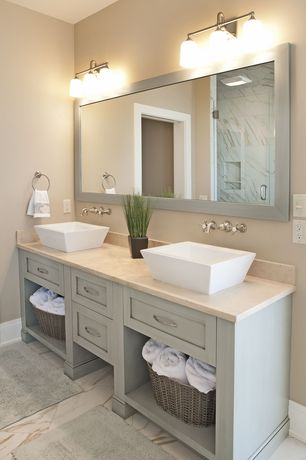 Master bathroom with vessel sink frameless showerdoor in for Bathroom ideas zillow