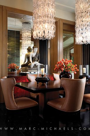 4 Tags Contemporary Dining Room With Crown Molding Chandelier Round Glass Chain Calligaris Park
