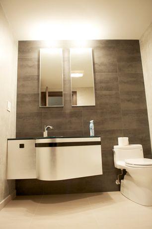 modern powder room with flush lightserge belferman
