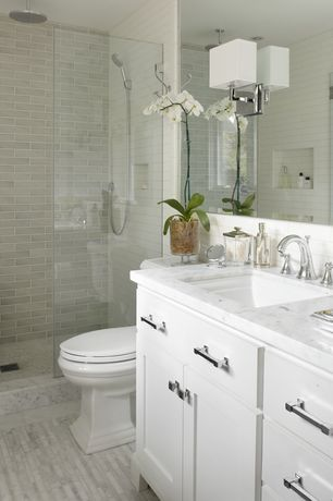 Contemporary 3 4 bathroom with brick floors by urrutia for Bathroom remodel zillow