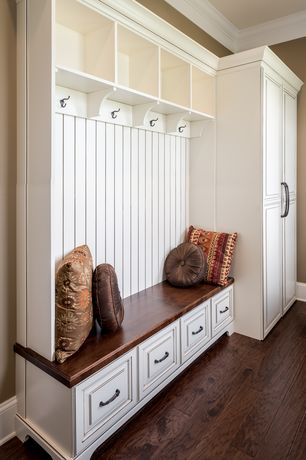 1 tag traditional mud room with crown molding high ceiling built in bookshelf hardwood - Mudroom Design Ideas