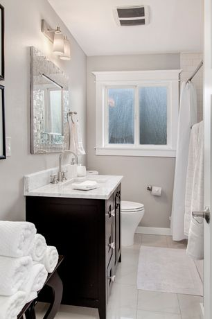 Traditional Full Bathroom With Limestone Tile Floors Flat Panel Cabinets Textured Relief 36