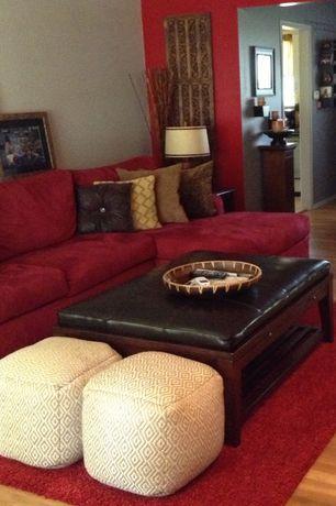 5 Tags Contemporary Living Room With Interior Wallpaper, Zipcode Design  Jade Area Rug, Hardwood Floors