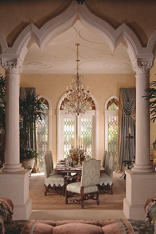 Dining room with arched window columns zillow digs for Dining room designs with pillars