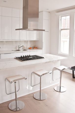5 Tags Contemporary Kitchen With Design Within Reach LEM Piston Stool With Leather  Seat, U Shaped