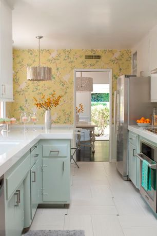 Contemporary Kitchen With Inset Cabinets By Erinn