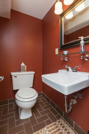 Powder Room Herringbone Tile Floors Zillow Digs Zillow