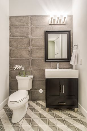 Powder Room Design Ideas three powder room design ideas for decorating Contemporary Powder Room With Bellaterra Home Ramsey 32 Single Bathroom Vanity Set Limestone Tile
