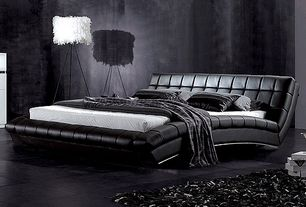 Black bedroom ideas design accessories pictures for Contemporary super king bed