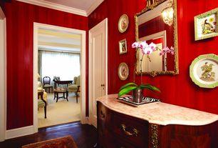 Traditional Hallway With Crown Molding Hardwood Floors