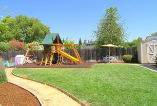 4 tags traditional landscapeyard with chesapeake wood complete swing set vigoro 2 cu ft - Yard Design Ideas