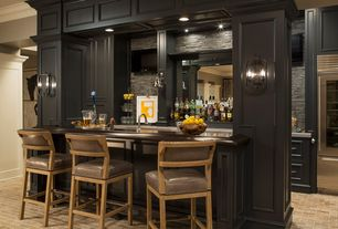 Traditional Bar With Built In Bookshelf, Brick Floors, Wall Sconce, High  Ceiling Part 95