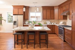 7 tags Craftsman Kitchen with Durango Cream Travertine, Nolan Flat Panel  Cabinetry, Travertine Subway Tile