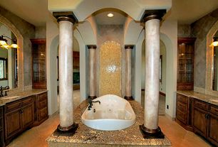5 tags Traditional Master Bathroom with Columns, Inset cabinets, Hydro  Systems Savannah 7444 Tub, Drop