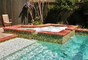 hot tub with pool with hot tub exterior stone floors fence exterior