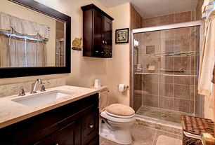 Traditional 3 4 bathroom design ideas pictures zillow for Bathroom remodel zillow