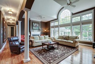 Beautiful 2 Tags Traditional Living Room With Flush Light, Ceiling Fan, Carpet,  Inviting Home, Classic Part 12