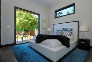 1 tag contemporary master bedroom with carpet concrete floors high ceiling