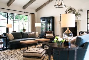 4 Tags Transitional Living Room With Pendant Light, High Ceiling, Color  Time Pirate Black Summerville Display