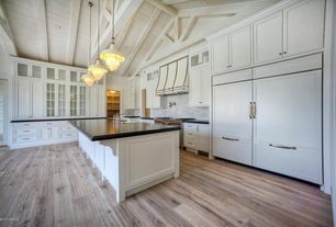 2 Tags Contemporary Kitchen With Farmhouse Sink, Slate Counters, Complex  Marble Tile, Exposed Beam,
