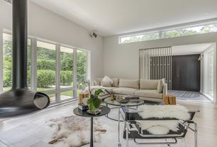 1 Tag Modern Living Room With Carpet Limestone Tile Floors High Ceiling
