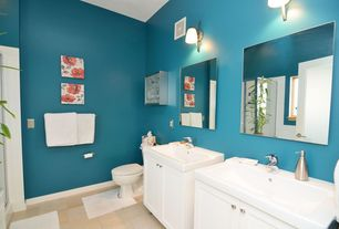 contemporary master bathroom with hudson valley adjustable polished nickel wall sconce french doors glass