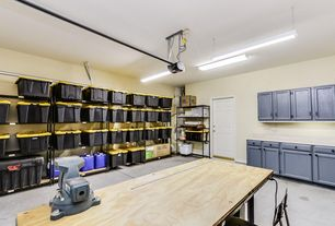 4 tags traditional garage with black wire shelving unit lithonia c232 mv 4 ft fluorescent - Garage Design Ideas