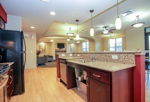 Contemporary Kitchen With Flush Breakfast Bar Maple Natural Solid Hardwood Plank 2 25
