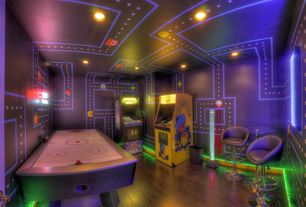 game room lighting. Eclectic Game Room With High Ceiling Wall Sconce Hardwood Floors Lighting