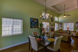 1 Tag Eclectic Dining Room With Chandelier Wrought Iron Hardwood Floors