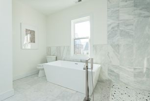 3 Tags Contemporary Master Bathroom With Freestanding Bathtub, Calacatta  Gold 12 In. X 24 In.
