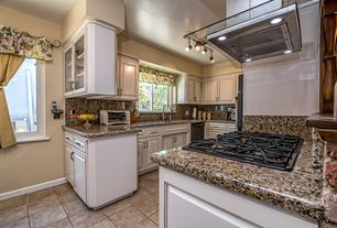 Country Kitchen With Flush Complex Granite Counters Kitchen Peninsula Complex Granite Flush