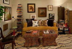 5 Tags Eclectic Living Room With Belgian Track Arm Slipcovered Sofa,  FlexiLED Floor Lamp By Jeremy King Part 40