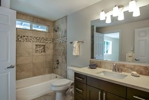 contemporary full bathroom with kesir travertine tiles honed and filled mina rustic 12 - Contemporary Bathroom Design Ideas