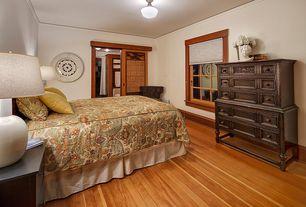 craftsman master bedroom with specialty door flush light hardwood floors - Hardwood Floor Design Ideas