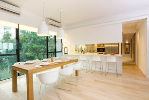1 Tag Modern Dining Room With Kitchen Peninsula L Shaped Flush Limestone Counters