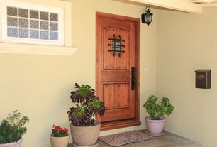 Traditional Front Door With Exterior Stone Floors